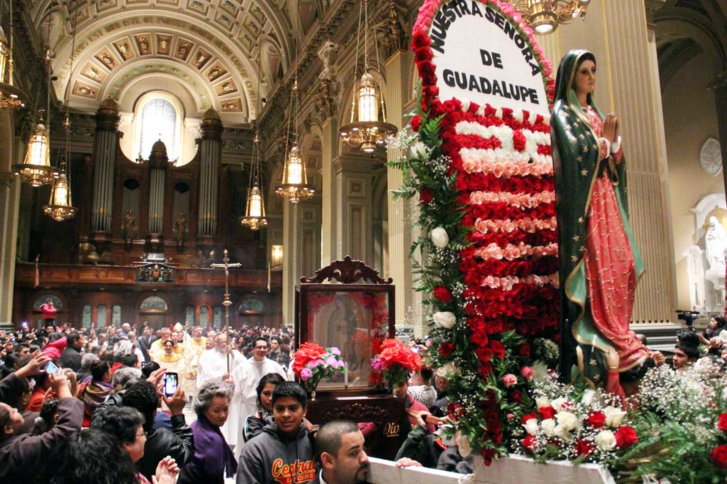 Our Lady of Guadalupe celebration in Catholic church
