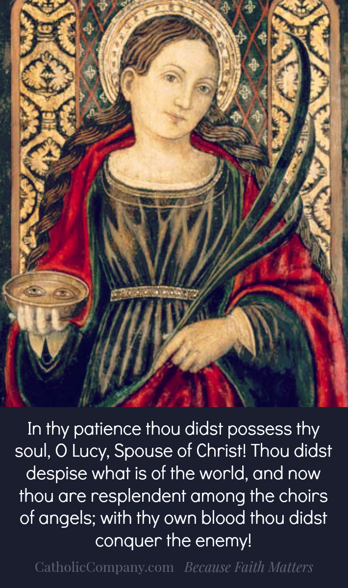 Saint Lucy Prayer