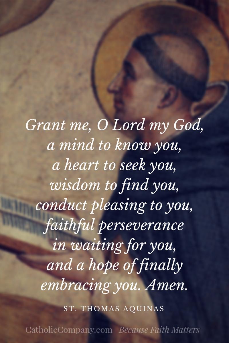 Prayer of St Thomas Aquinas