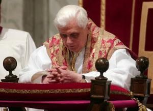 Pope Benedict XVI in prayer