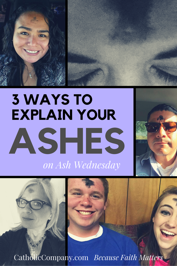 How to your ashes on Ash Wednesday: 3 methods.
