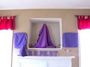 Veiling holy images during the height of Lent