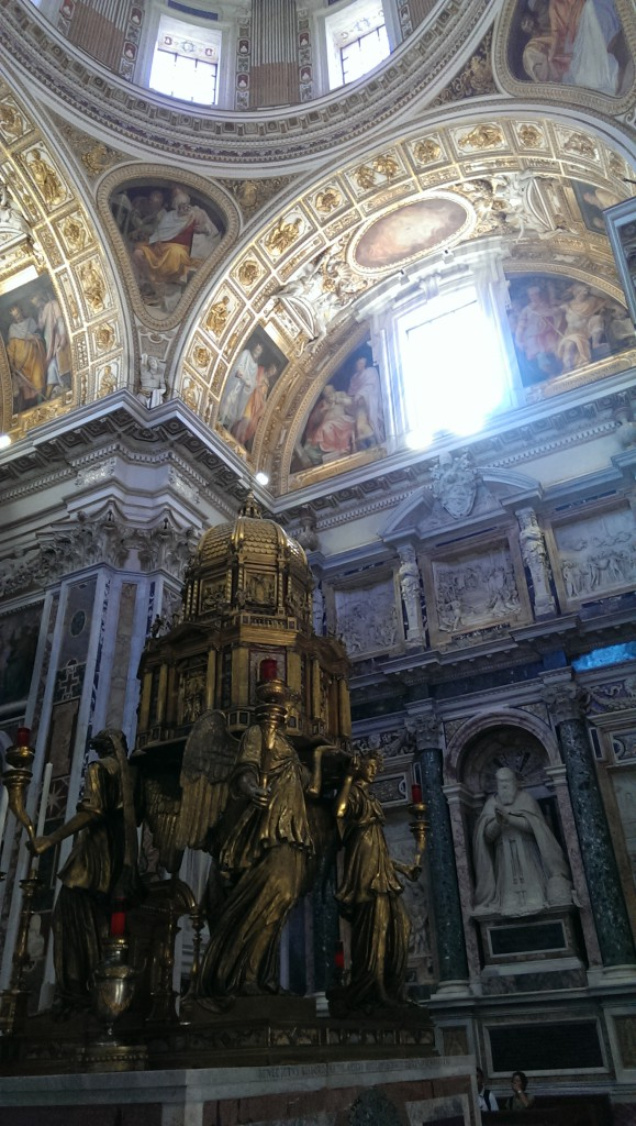 Huge Tabernacle at the Basilica of Santa Maria Maggiore, or St. Mary Major, in Rome