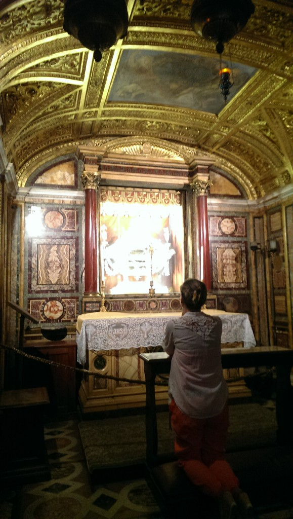 Lower altar with relic of Christ's Crib at the Basilica of Santa Maria Maggiore, or St. Mary Major, in Rome