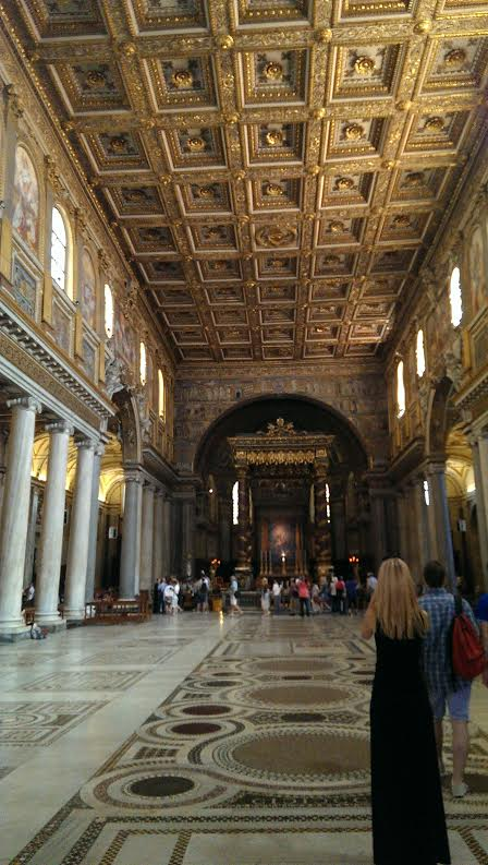 Inside the Basilica of Santa Maria Maggiore, or St. Mary Major, in Rome