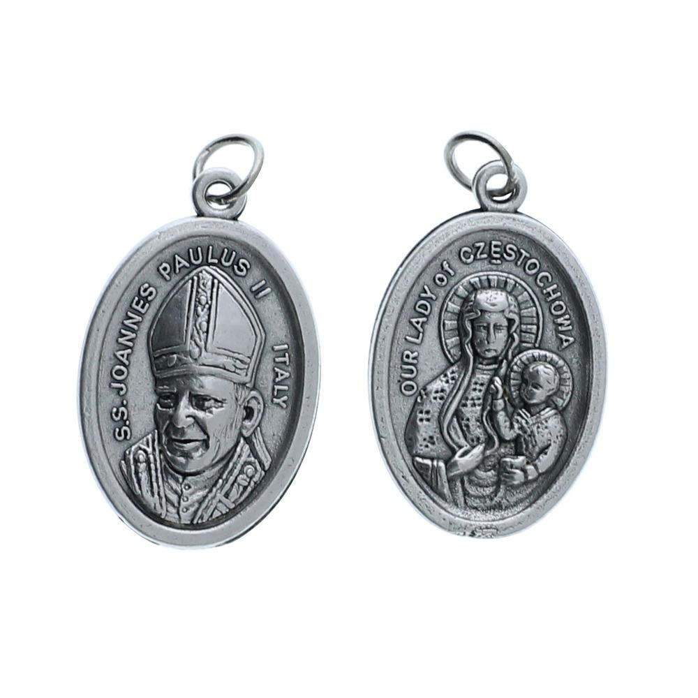Pope John Paul II / Our Lady of Czestochowa Medal Pkg of 25