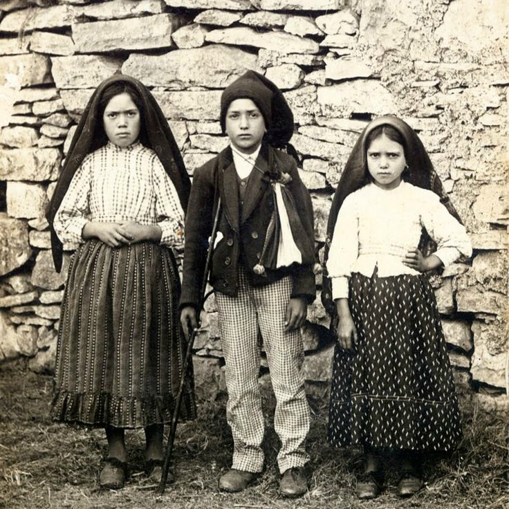 The three Fatima seers: Lucia, Francisco, and Jacinta