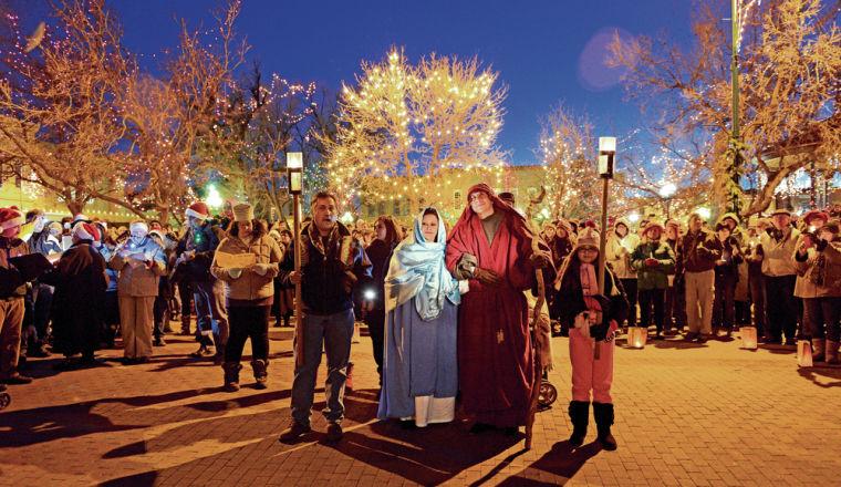 Las Posadas Procession in Santa Fe, New Mexico