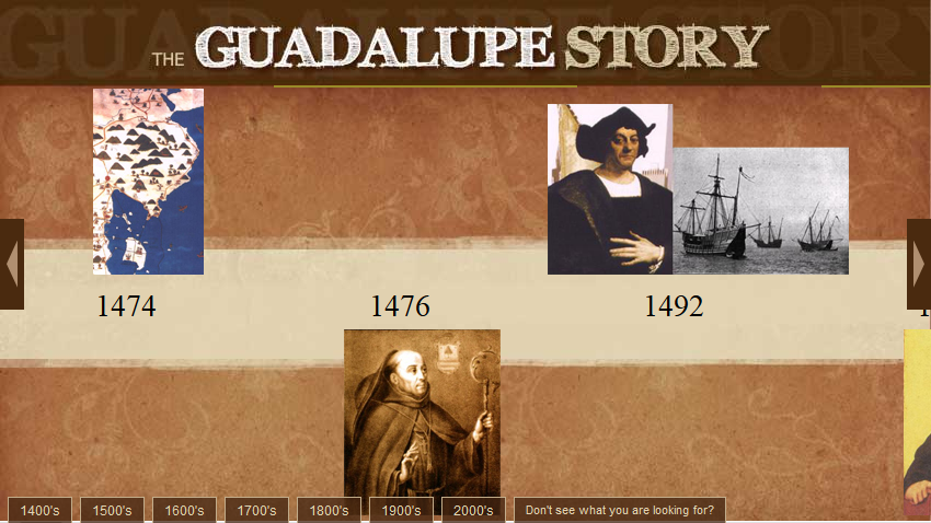 The Guadalupe Story Timeline