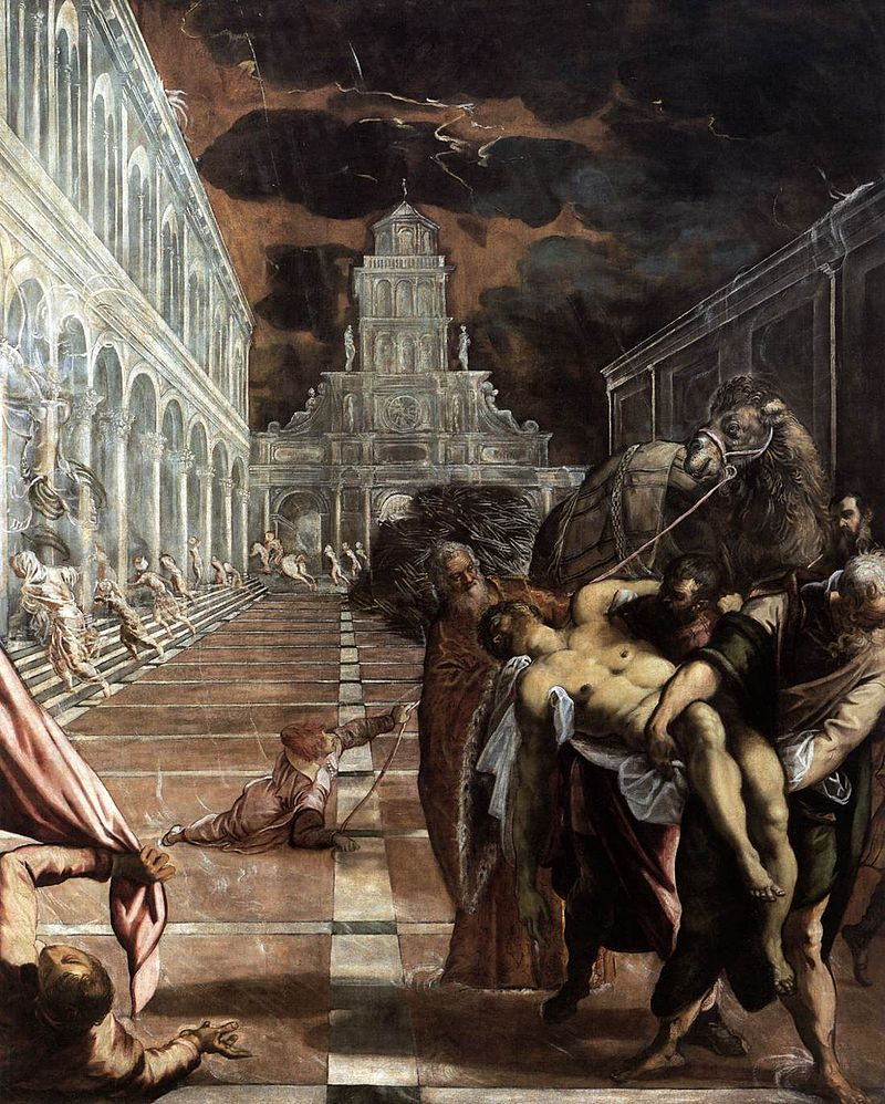 Tintoretto painting about St Mark