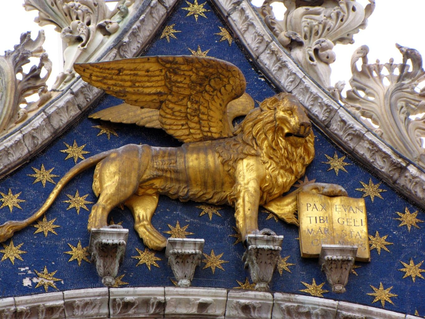 St. Mark the Evangelist is symbolized with a lion