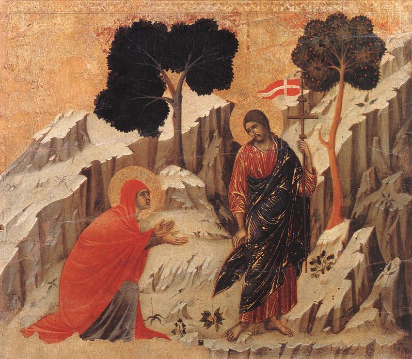 Mary Magdalene sees the Risen Christ