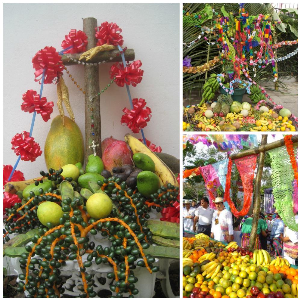 Fruit display Holy Cross Day Latin America