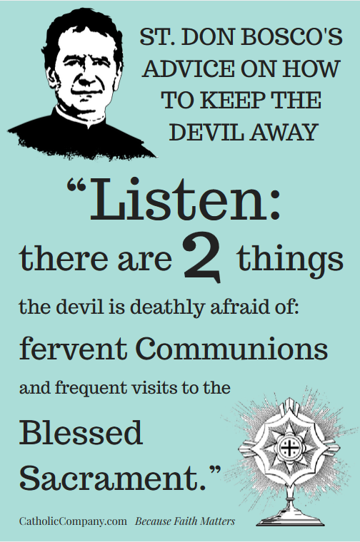Don Bosco's Advice on How to Keep the Devil Away