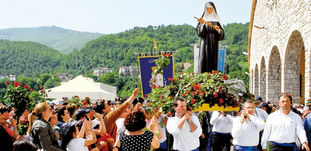 Celebrating the feast of St. Rita in Cascia, Italy