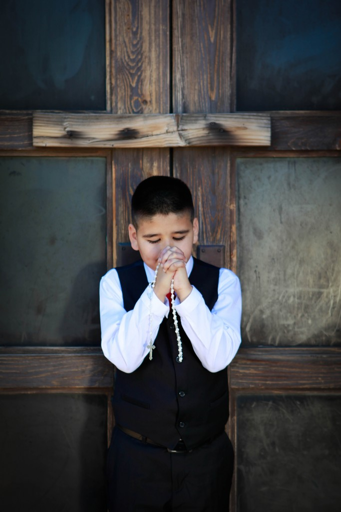 Dominic C. at his First Holy Communion and Confirmation in Phoenix, Arizona
