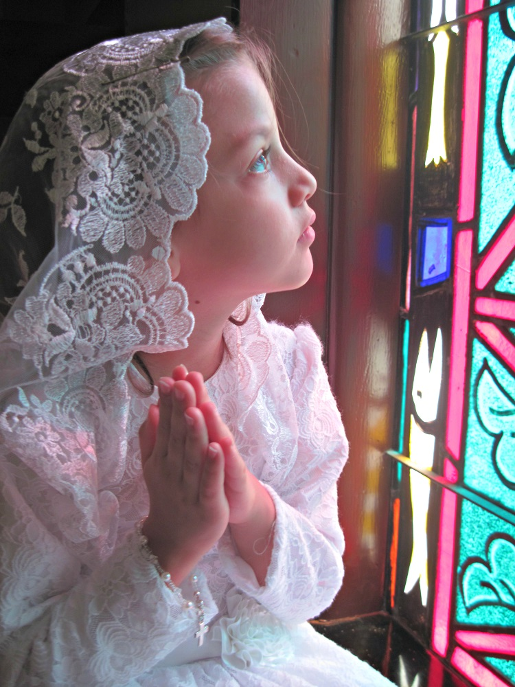 Emma G. at her First Holy Communion in Atmore, Alabama
