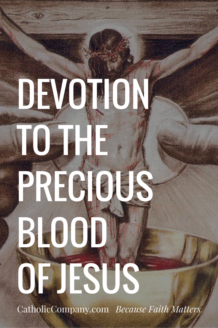 In recent times, devotion to the Precious Blood of Jesus has more widely taken root in our Catholic tradition