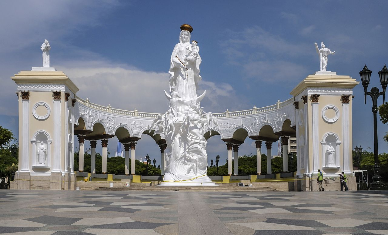 Monument of Our Lady of the Rosary of Chiquinquirá, in Maracaibo, Venezuela.