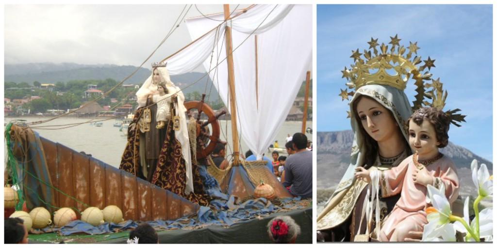 """La Virgen del Carmen, known as Estrella del Mar"", is the Patroness of Fishermen in countries such as Nicaragua."