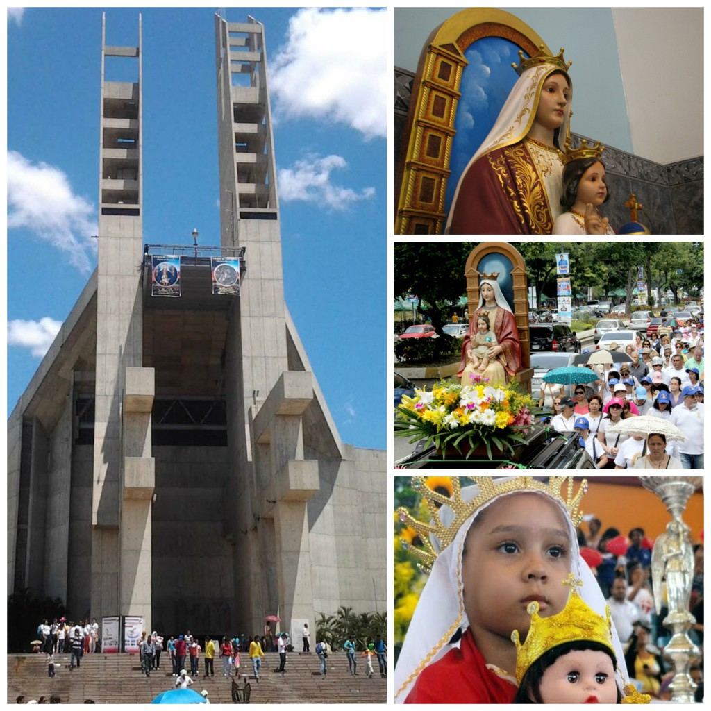 Our Lady of Coromoto Church and celebration in Venezuela.