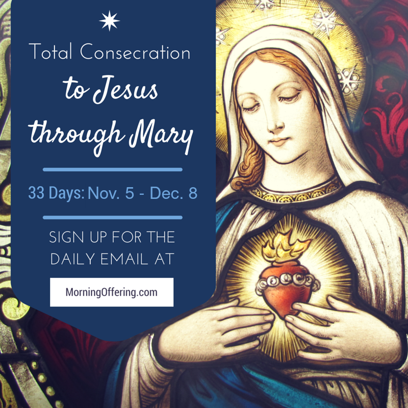 Total Consecration to Jesus Through Mary with the Morning Offering Nov 5th - Dec 8th