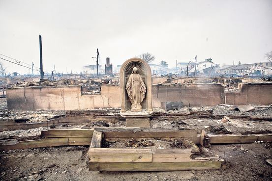 Queens Fire Sandy Mary Statue Still Standing