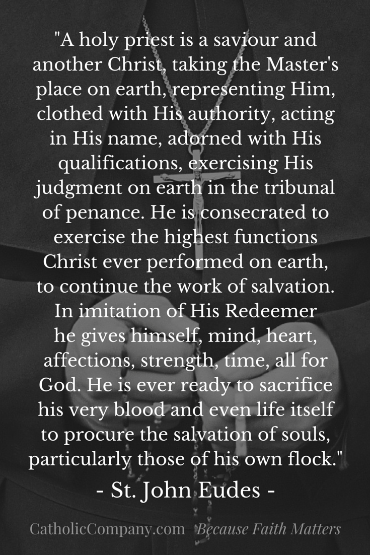 What a holy priest is by St. John Eudes