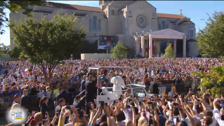 Pope Francis D.C. National Shrine