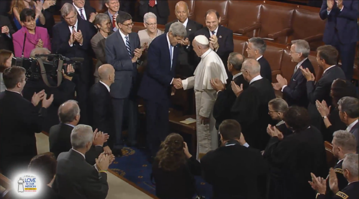 Pope Francis Arrives Congress