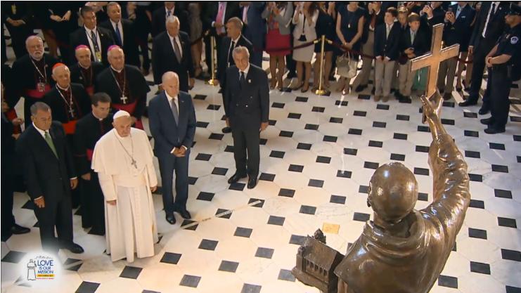 Pope Francis St. Junipero Statue