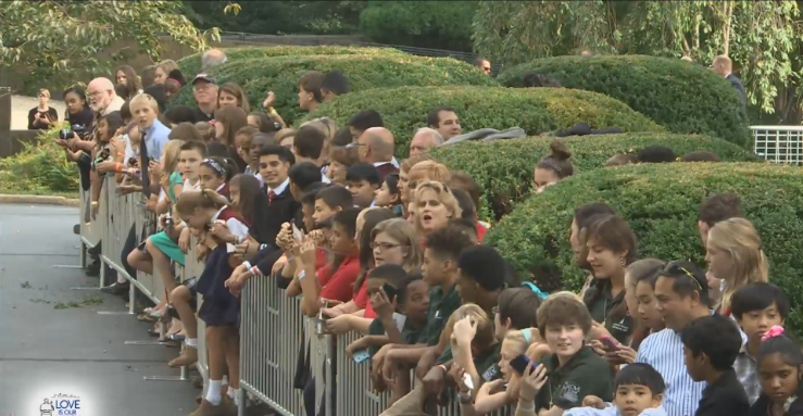 Crowds line up for Holy Father