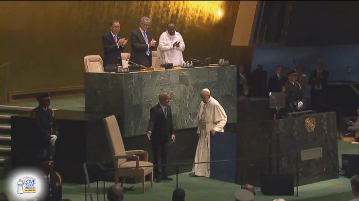 Pope Francis finishes U.N. speech