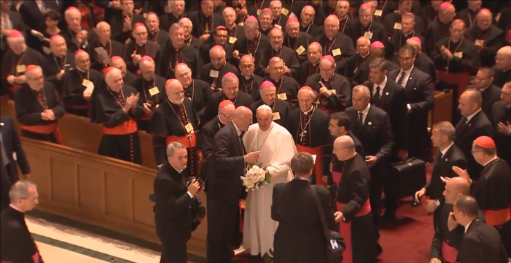 Pope Francis with American Bishops in D.C.