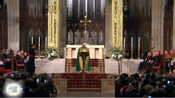 Pope Francis Vespers NYC