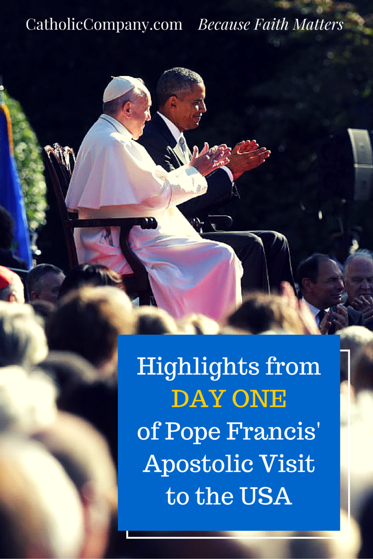 The Big Moments from Pope Francis' first full day in the United States.