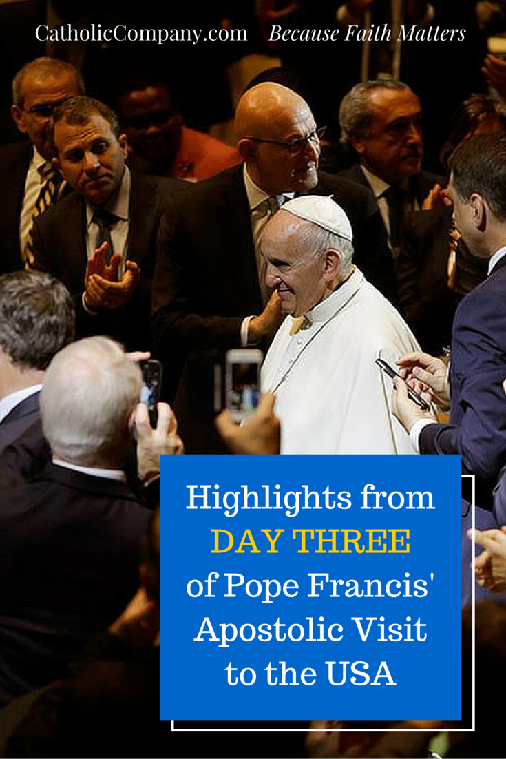 The Big Moments from Pope Francis' third day in the United States.