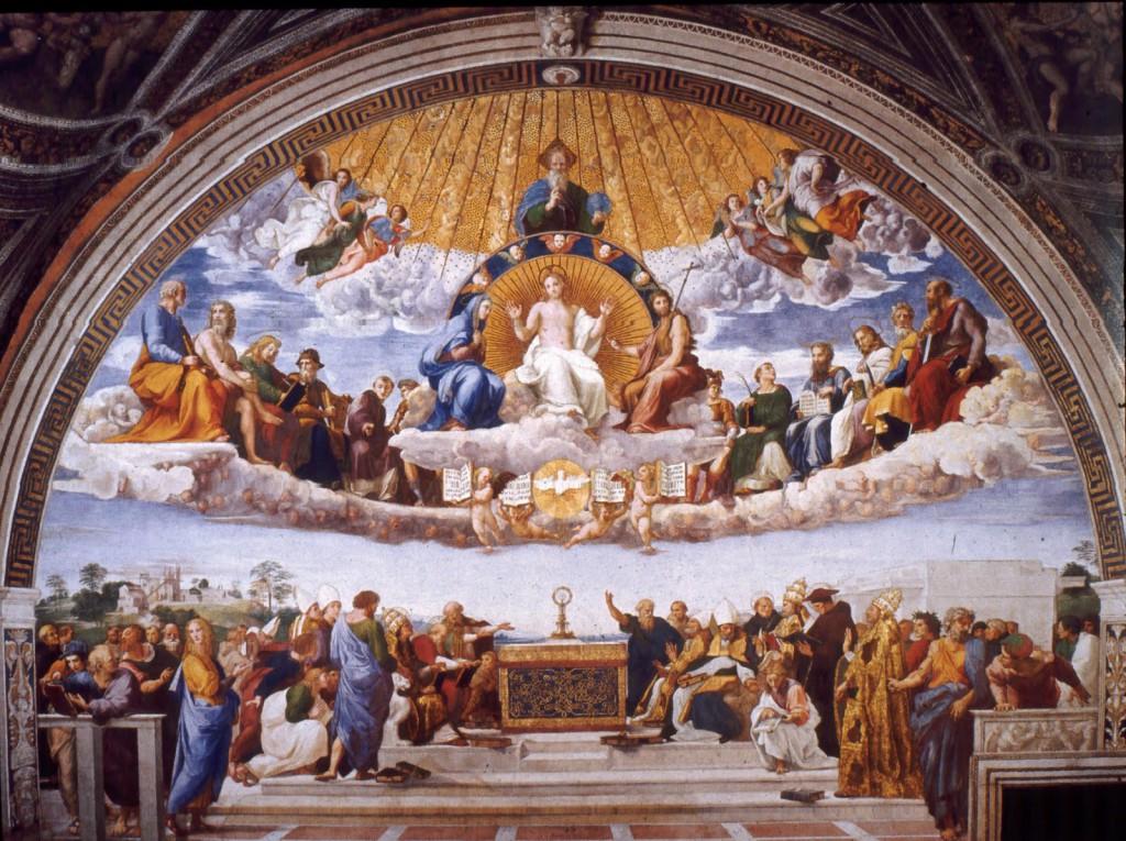 The Disputation over the Blessed Sacrament by Raphael / La Disputa del Sacramento de Rafael