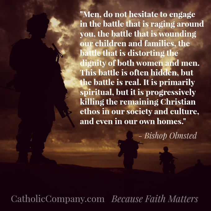 Bishop Olmsted quote from his apostolic letter, Into the Breach