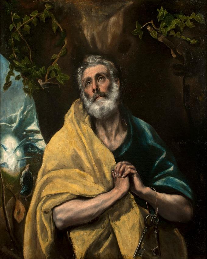 The Tears of Saint Peter by El Greco / Las Lágrimas de San Pedro de El Greco