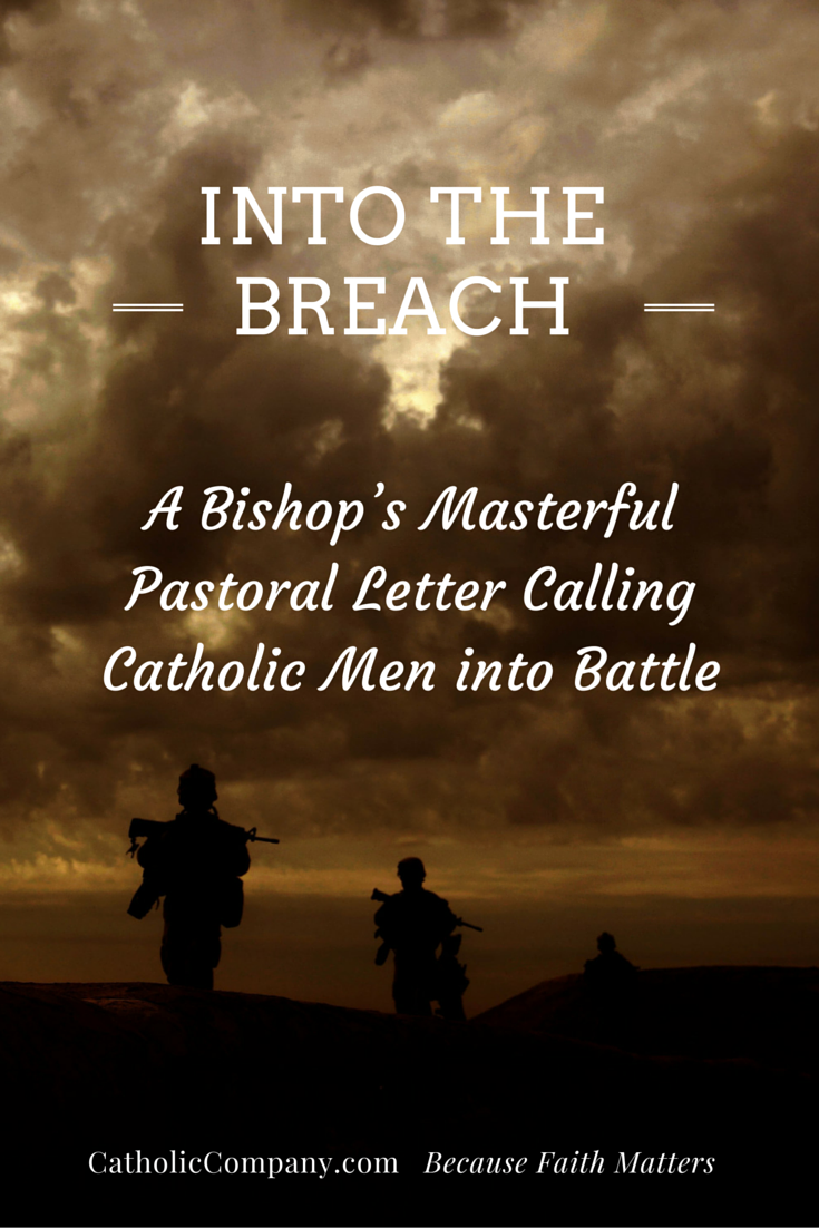 Into the Breach: A Must-Read Apostolic Exhortation to Catholic Men by Bishop Olmsted