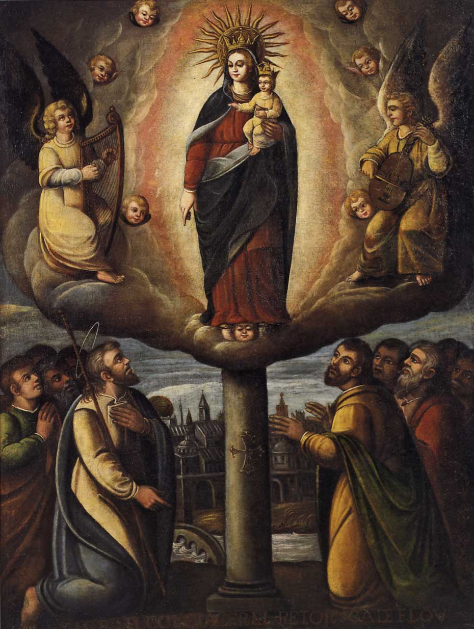 Read the history of the apparition of Our Lady of the Pillar to St. James the Greater in Spain in 40 AD, while she was still living in Jerusalem