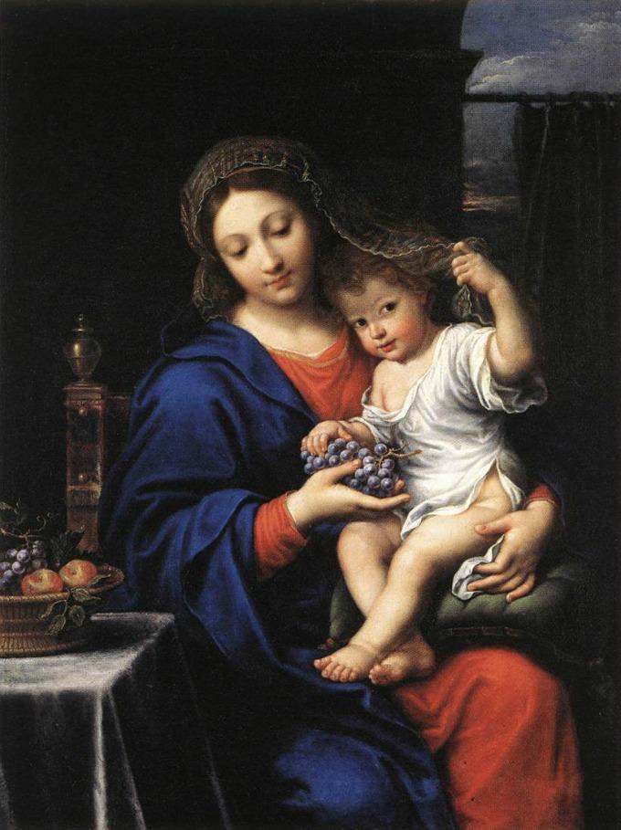 The Virgin of the Grapes by Mignard / La Virgen de las Uvas de Mignard