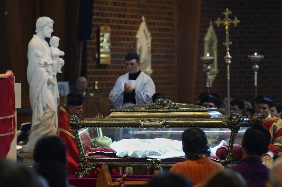 St. Maria Goretti on pilgrimage in the United States (Photo: Charlotte Observer)