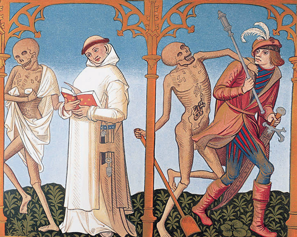 Dance of Death, as depicted in medieval art