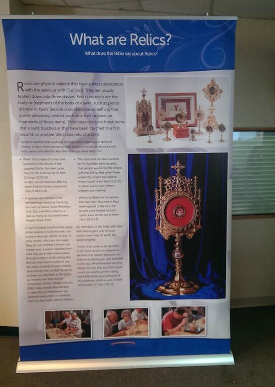 Display about Catholic relics