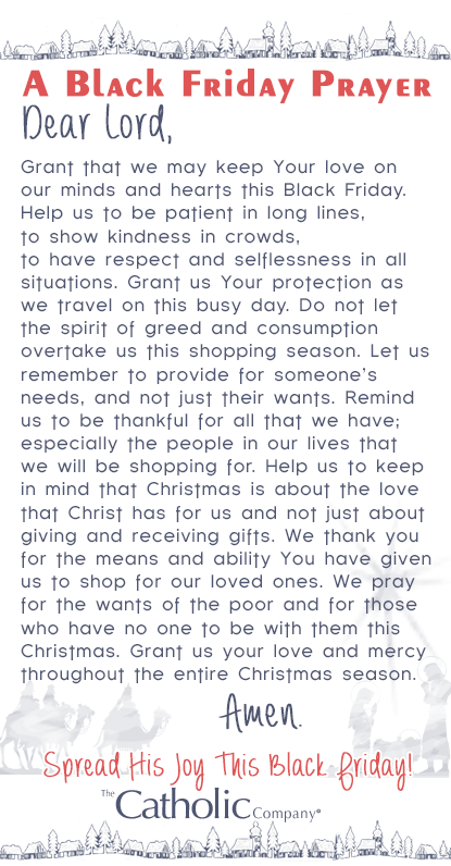 A Prayer for all the Black Friday Shoppers