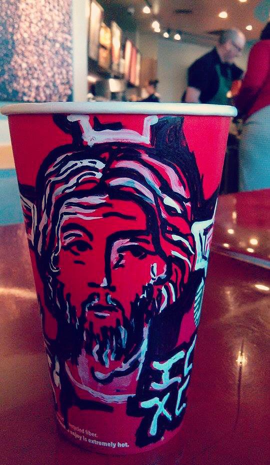 Catholic-style Starbucks coffee cups - Jesus!