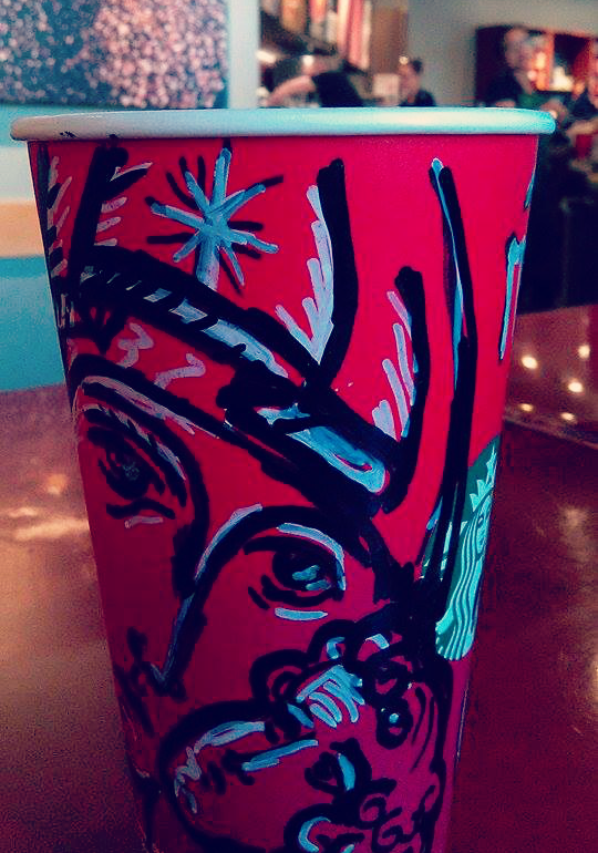 Catholic-style Starbucks coffee cups - Our Lady!