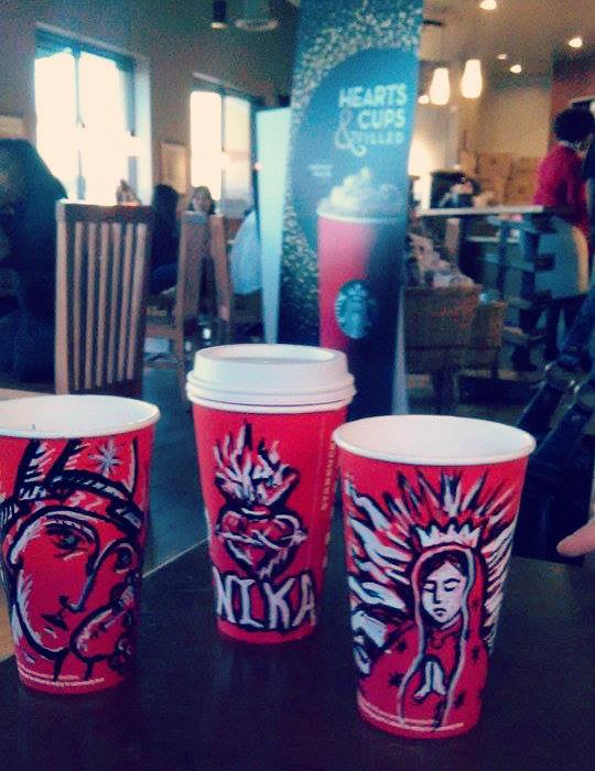 Catholic-style Starbucks coffee cups !